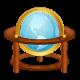 Stickers Autocollant mappe monde