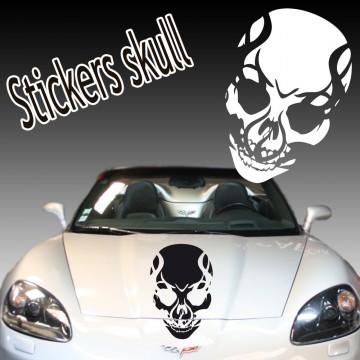 Stickers Autocollant Tête de Mort Skull