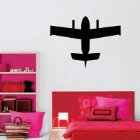 Stickers Autocollant Avion Silhouette
