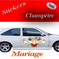 Stickers Autocollant Mariage Champêtre vendu par 2