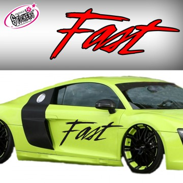 Stickers autocollant Tuning Fast