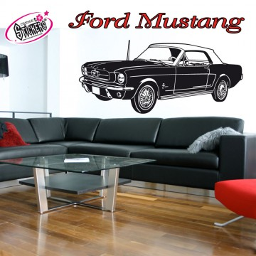 ce stickers mustang pas cher s 39 int grera parfaitement dans votre int rieur ou ext rieur. Black Bedroom Furniture Sets. Home Design Ideas