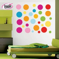 Stickers Autocollant Ronds  de couleurs