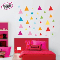 Stickers Autocollant  Triangle de couleur