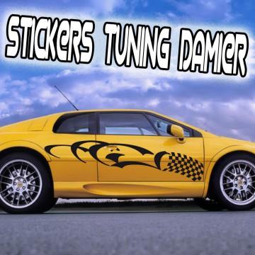 Stickers Autocollant Damier Voiture Tuning vendu par 2