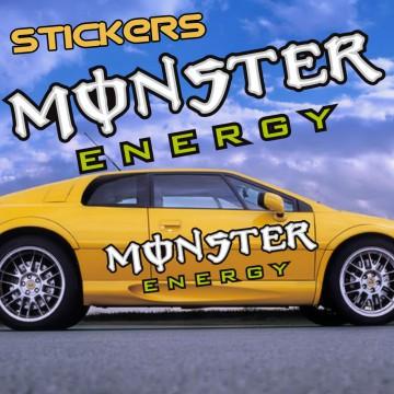 Stickers Autocollant Monster Energy