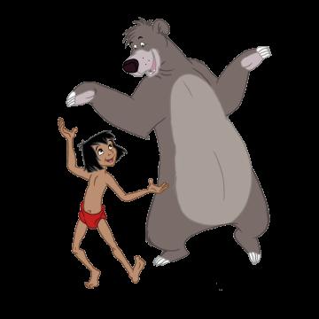 Stickers Mowgli et Balou