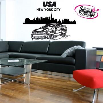 Stickers Autocollant USA New York