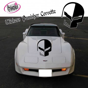 Stickers Punisher Corvette