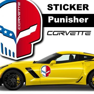 Stickers Autocollant Punisher Corvette
