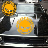 Stickers Autocollant Punisher Harley Davidson