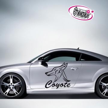 Stickers Autocollant Coyote