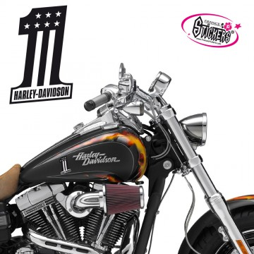 Stickers Autocollant Harley Davidson
