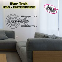 Stickers STAR TREK - USS - ENTERPRISE vue de haut
