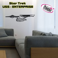 Stickers STAR TREK - USS - ENTERPRISE vue de coté