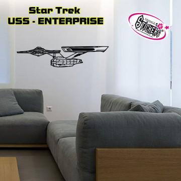 Stickers STAR TREK - USS - ENTERPRISE vue de coté