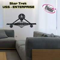 Stickers STAR TREK - USS - ENTERPRISE vue de Face