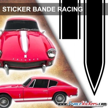 Stickers Voiture Bande Racing Tuning Pointe