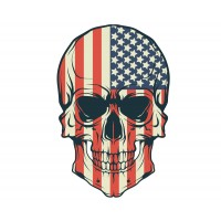 Stickers Autocollant Harley Davidson Skull