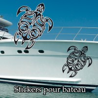 Stickers Autocollant Tortue Tribal