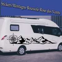 Stickers  Montagne Boussole rose des vents
