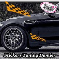 Stickers Autocollant Tuning Damier vendu par 2