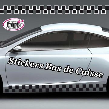 Stickers Autocollant Bas de Caisse vendu par 2
