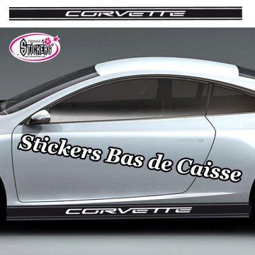 Stickers Autocollant Bandes Racing Bas de Caisse Personnalisé vendu par 2