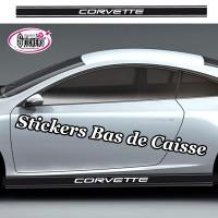 Stickers Autocollant Bas de Caisse Bandes Racing Personnalisé vendu par 2