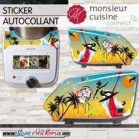Stickers Autocollants Monsieur Cuisine Connect MCC - Plage