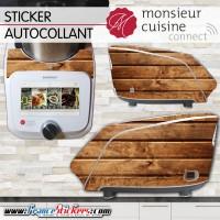 Stickers Autocollants Monsieur Cuisine Connect MCC - Effet Bois