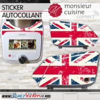 Stickers Autocollants Monsieur Cuisine Connect MCC -Drapeau Anglais