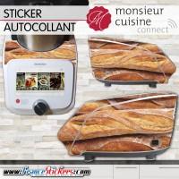 Stickers Autocollants Monsieur Cuisine Connect MCC - Baguette de Pain