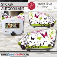 Stickers Autocollants Monsieur Cuisine Connect MCC - Papillon et Floral