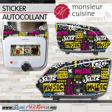 Stickers Autocollants Monsieur Cuisine Connect MCC - Musique