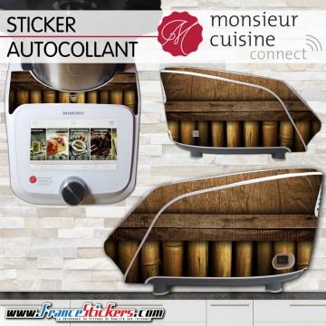 Stickers Autocollants Monsieur Cuisine Connect MCC - Bois et Bambou