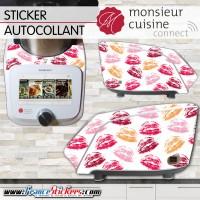 Stickers Autocollants Monsieur Cuisine Connect MCC - Bouche Bisous