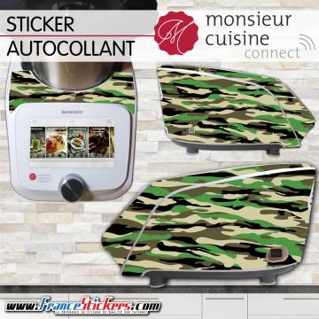 Stickers Autocollants Monsieur Cuisine Connect MCC - Militaire