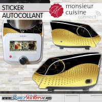 Stickers Autocollants Monsieur Cuisine Connect MCC - Noir et Or