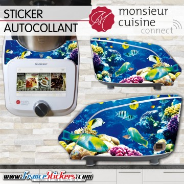 Stickers Autocollants Monsieur Cuisine Connect MCC - Poisson Exotique