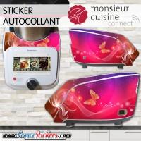 Stickers Autocollants Monsieur Cuisine Connect MCC - Papillon