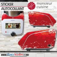 Stickers Autocollants Monsieur Cuisine Connect MCC - Dégradé de Rouge