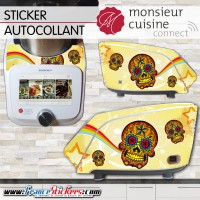 Stickers Autocollants Monsieur Cuisine Connect MCC - Tête de Mort Mexicaine