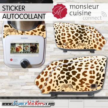 Stickers Autocollants Monsieur Cuisine Connect MCC - Peau de Leopard