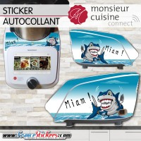 Stickers Autocollants Monsieur Cuisine Connect MCC -Requin humoristique