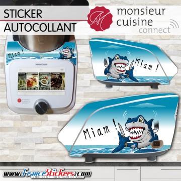 Stickers Autocollants Monsieur Cuisine Connect MCC -Requin humoristique