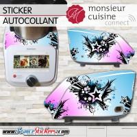 Stickers Autocollants Monsieur Cuisine Connect MCC - Déco année 70