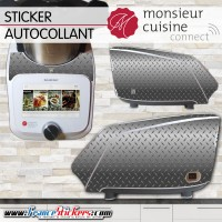 Stickers Autocollants Monsieur Cuisine Connect MCC - Moderne gris