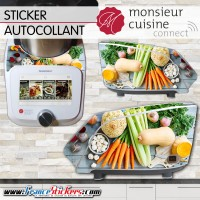Stickers Autocollants Monsieur Cuisine Connect MCC - Légumes