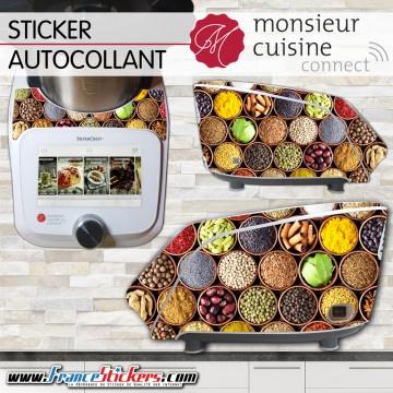 Stickers Autocollants Monsieur Cuisine Connect MCC - Épices